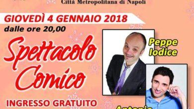 Photo of Boscotrecase. Domani spettacolo comico di Peppe Iodice e Antonio D'Ausilio