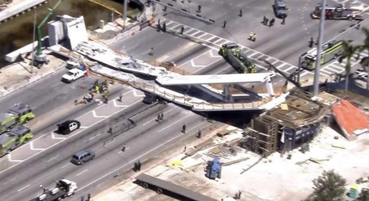 Photo of Miami: crolla un ponte appena inaugurato, ci sono vittime
