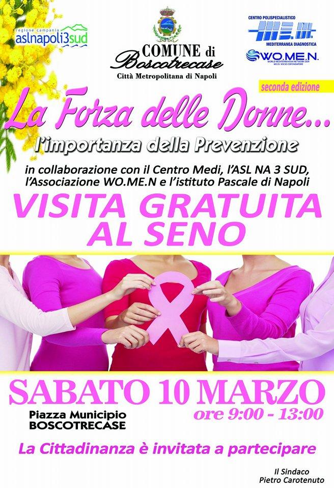 """Photo of Boscotrecase. II edizione de """"La Forza delle Donne"""": sabato 10 marzo visita di prevenzione del tumore al seno"""
