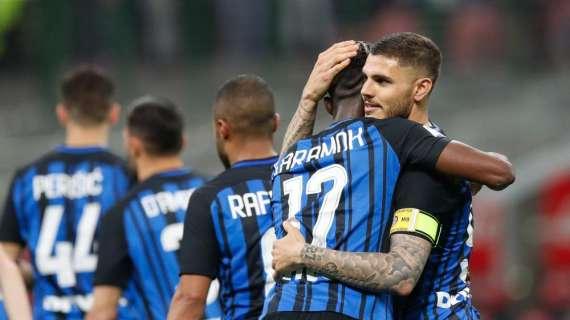 L'Inter vuole la Champions: 4-0, è terza