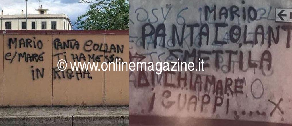 """Photo of Castellammare. Si indaga sulle scritte apparse in città, crolla per ora la """"storia"""" di Mario Pantacollant"""