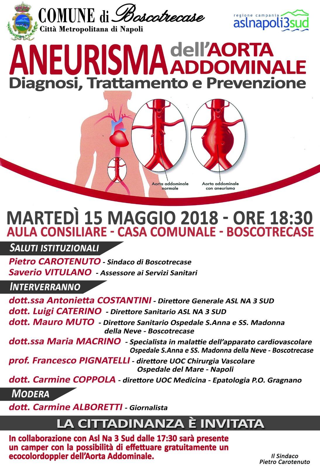 Photo of Boscotrecase, domani convegno sulla prevenzione dell'aneurisma dell'aorta addominale