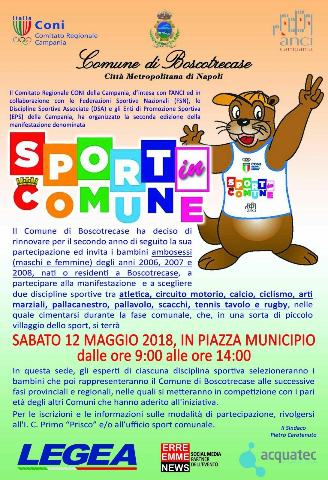"""Photo of Boscotrecase, il 12 maggio la seconda edizione de """"Lo sport in comune"""": protagonisti centinaia di bambini"""