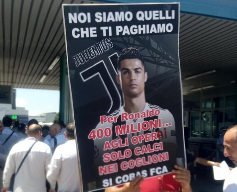 Photo of Sciopero operai FCA contro l'acquisto di Ronaldo: un flop clamoroso