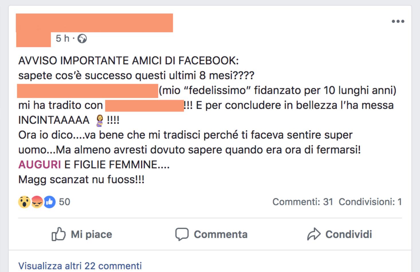 """Photo of Tradita dal fidanzato che mette incinta la sua nuova compagna. L'ex si sfoga su Fb: """"almeno avresti dovuto sapere quando era ora di fermarsi"""""""