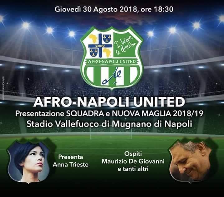 Photo of Presentazione squadra e nuova maglia dell'Afro-Napoli United, season 2018/19