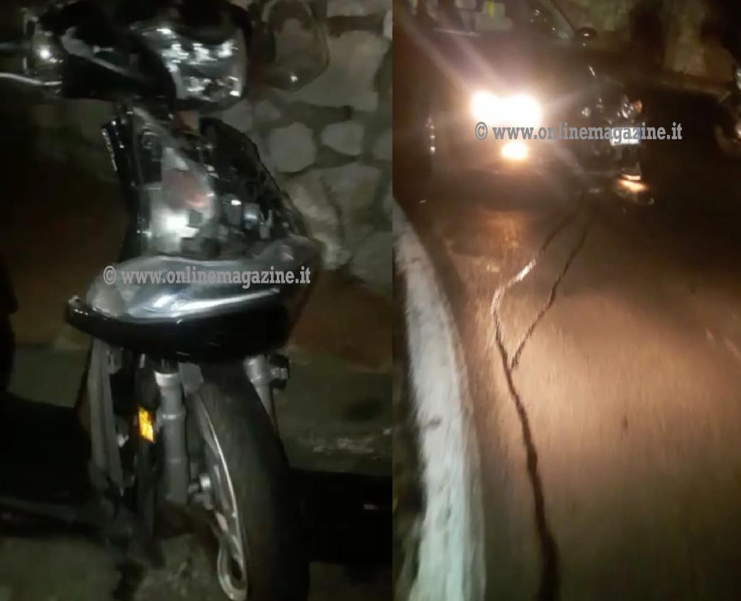 Photo of Statale Sorrentina. Frontale auto-moto nella notte, ferito centauro