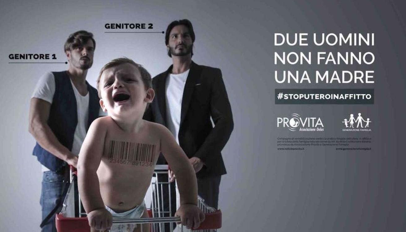 """Photo of """"Due uomini non fanno una madre"""", polemica per la campagna Pro Vita"""