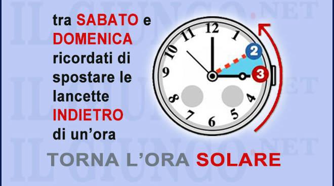 Photo of Ora solare, tra sabato e domenica lancette indietro di un'ora