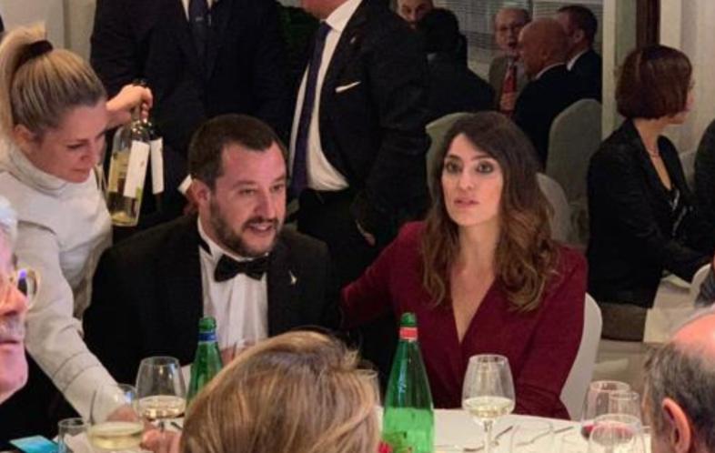 Salvini in smoking rivede la Isoardi alla cena di gala