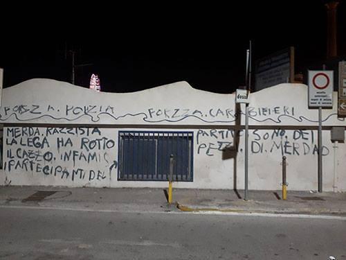 Photo of Scritte contro la Lega e Salvini a Salerno ma è la sede della Lega Navale
