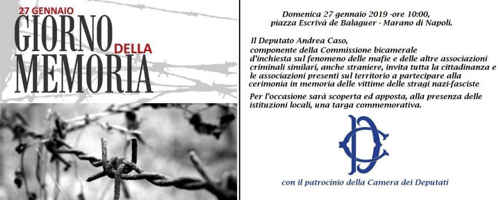 Photo of Marano. Il presidente Fico conferisce camera all'evento in memoria delle vittime nazifasciste