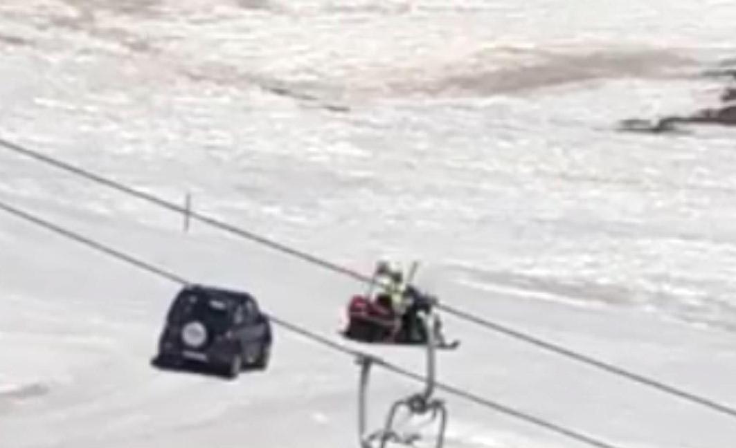 Photo of Anziano invade pista da sci con la propria auto: multato