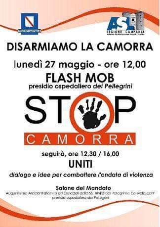"Photo of ""Disarmiamo la camorra"", flash mob all'ospedale Pellegrini dopo la sparatoria al pronto soccorso"