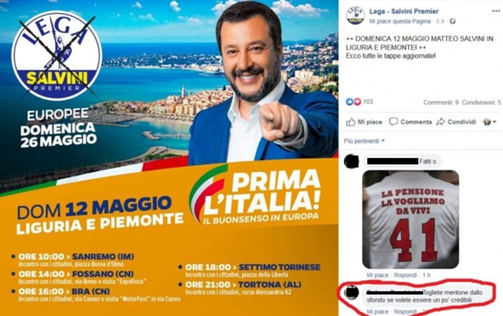 """Photo of Gaffe della Lega: """"Prima l'Italia"""", ma nel manifesto figura una località francese"""