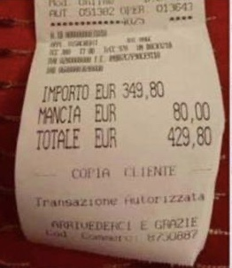 Photo of Roma, turiste pubblicano scontrino dopo pranzo in centro: 429 euro di conto, è polemica