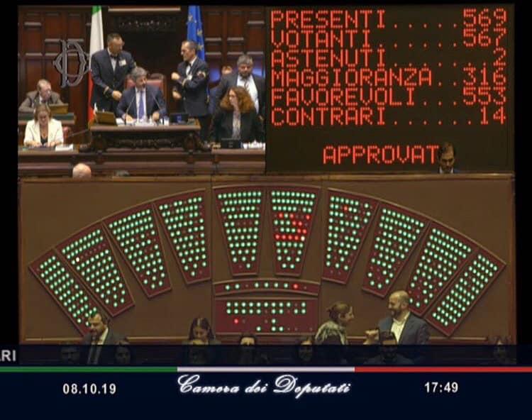 """Photo of Arriva l'ok definitivo della Camera per il taglio dei Parlamentari. Esulta il M5S: """"Risultato storico"""""""
