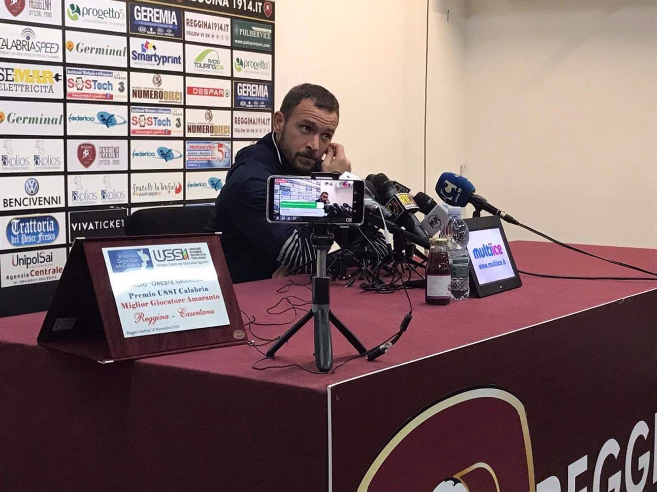 """Photo of Casertana, D'Angelo: """"Abbiamo fatto la nostra partita, Reggina squadra forte che può puntare alla B"""""""