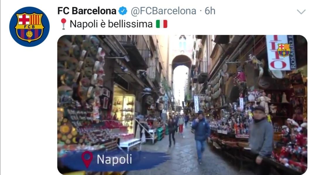 Photo of Champions League, il Barcellona omaggia Napoli sui social (Video)