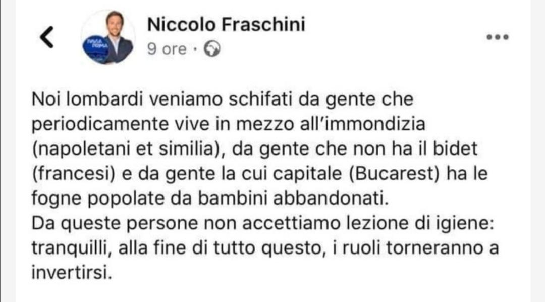 """Photo of Consigliere di Pavia su Napoli:"""" Veniamo schifati da gente che vive in mezzo all'immondizia"""""""