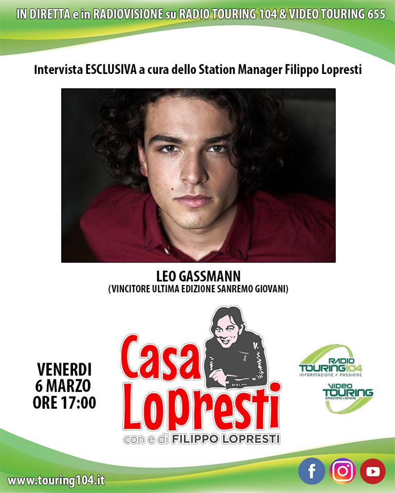 Photo of Reggio Calabria, Leo Gassmann ospite a Casa Lopresti